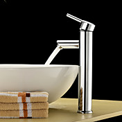 Single Handle Chrome Finished Solid Brass Bathroom Sink Faucet