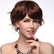 High Quality Synthetic Short Curly Brown Hair Wigs 3 Colors to Choose