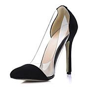 Elegant Suede / Plastic Stiletto Heel Closed Toe Pumps Party / Evening Shoes