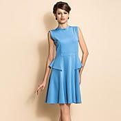 TS Sleeveless Slim Waist Swing Jersey Dress