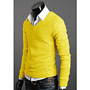 Men's V-Neck Jersey Pullover (Slim Fit)
