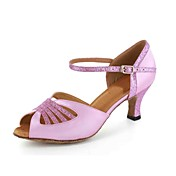 Customized Satin Ankle Strap Latin / Ballroom Women's Dance Shoes(More Colors)
