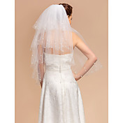 Beautiful Four-tier Elbow Wedding Veil With Cut Edge