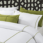 3-Piece 300TC Elsfleth Piping Cotton Satin Duvet Cover Set