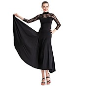 Ballroom Dancewear Viscose and Tulle Modern Dance Dress For Ladies