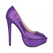 Gorgeous Leatherette Stiletto Heel Pumps / Peep Toe Party / Evening Shoes