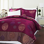 3-Piece Benquela Circle Jacquard Duvet Cover Set