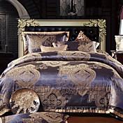 4 PCS Rome Style Jacquard Polyester Full Duvet Cover Set
