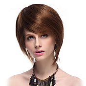 Capless High Quality Synthetic Short Straight Brown Fashionable Hair Wigs