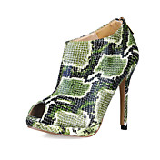Fabulous Leatherette Stiletto Heel Ankle Boots With Animal Print Party / Evening Shoes (More Colors)