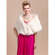 Gorgeous Faux Fur Wedding / Special Occasion Shawl / Wrap With Rhinestone (More Colors)