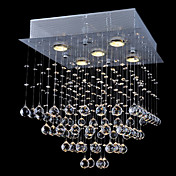 Luxury Crystal Beaded Ceiling Light with Warm Yellow Light Source