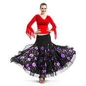 Ballroom Dancewear Viscose and Cotton Modern Dance Skirt For Ladies