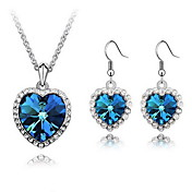 Nice Alloy With Crystal / Rhinestone Women's Jewelry Set Including Necklace,Earrings