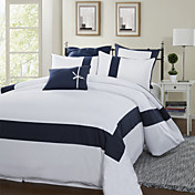3-Piece Splice Stripe 300TC Duvet Cover Set