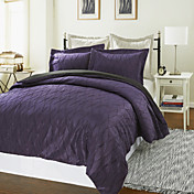 3-Piece Mina Wave Jacquard Duvet Cover Set