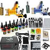 2 Dragonfly Rotary Tattoo Gun Kit with 14*15ml Color Ink