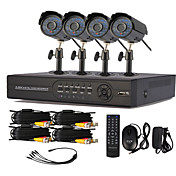4 Channel One-Touch Online CCTV DVR System(4 Outdoor Warterproof Camera)