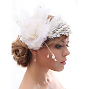 Beautiful Silk Screen/Imitation Pearls And Feathers Wedding/Bride Flower