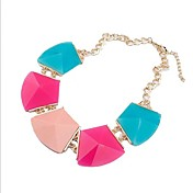 Women's Fashion Colorful Geometry Resin Necklace
