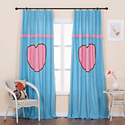 (Two Panels) Modern Lovely Solid Piecing Energy Saving Curtains