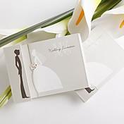 Simple Design Bride And Groom Wedding Invitation (Set of 50)