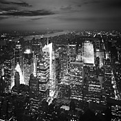 Stretched Canvas Art Landscape NYC Nights by Nina Papiorek Ready to Hang
