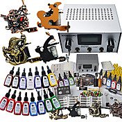 4 Tattoo Gun Kit for Lining and Shading (3 Carved Tattoo Machine and 1 Cast Iron Tattoo Machine)