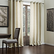 (One Pair) Faux Solid Linen Classic Eco-friendly Curtain