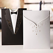 Classic Gown & Tux On Different Side Wedding Invitation (Set of 50)