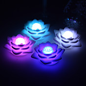 Nice Vinyl Lutos LED Lamp - Set of 4 (Color Changing, Built-in Botton Cell)