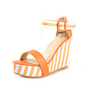 Leatherette Wedges Sandals With Split Joint Party / Evening Shoes (More Colors)