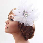 Beautiful Silk Screen With Feathers Wedding/Bride Headdress Flower