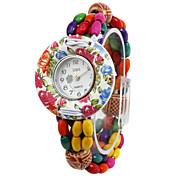 Lovely Wood Round Quartz Women's Watch(More Colors)
