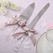 Personalized Wedding Serving Set With Ribbon Bow