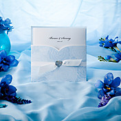Elegant Blue Roses Tri-fold Wedding Invitation (Set of 50)