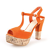 Suede Chunky Heel Sandals With Split Joint Party / Evening Shoes (More Colors)
