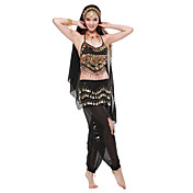 Dancewear Chiffon Belly Dance Outfits Top and Bottom and Belt For Ladies More Colors