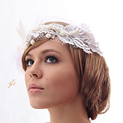Beautiful Silk Screen/Imitation Pearls And Feathers Wedding/Bride Flower