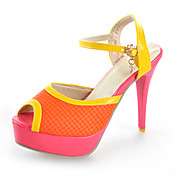 Chic Leatherette Stiletto Heel Sandals With Split Joint Party / Evening / Wedding Shoes (More Colors)
