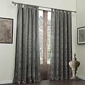 (One Panel) Traditional Jacquard Geometric Energy Saving Curtain