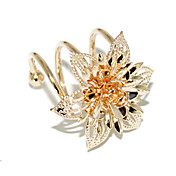 Gold plated Short Spring Bauhinia Ring