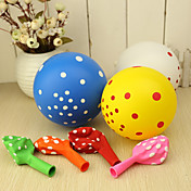 Round Ballon With Polka Dot - Set of 50 (Mixed Colors)