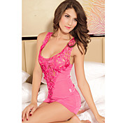 Pink Stretch Mesh Nightie Chemise Lingerie(Bust:86-102cm Waist:58-79cm Hip:90-104cm Length:65cm)