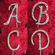 Shinning Rhinestone Monogram Wedding Cake Topper