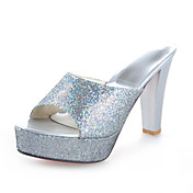 Chic Sparkling Glitter Chunky Heel Slippers Party / Evening Shoes (More Colors)