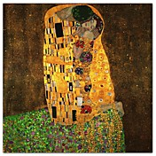 The Kiss by Gustav Klimt Famous Stretched Canvas Print