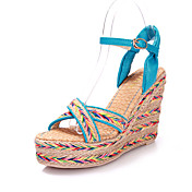 Gorgeous Leatherette Wedge Heel Sandals With Buckle/Braided Strap Party / Evening Shoes(More Colors)