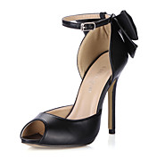 Fashion Imitated Silk Fabric Stiletto Heel Sandals With Platform Party / Evening Shoes