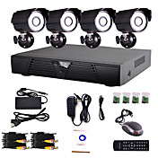 4 Channel Home and Office CCTV DVR System(P2P Online,4 Outdoor Camera)